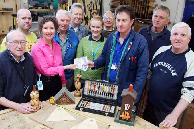 Charity donation to men in sheds